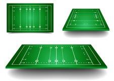 Rugbyfelder Stockbild