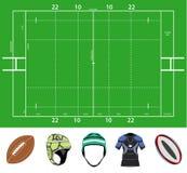 Rugbygebied en materiaal Royalty-vrije Stock Afbeeldingen