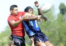 Rugbyhandling Royaltyfria Bilder