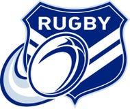 Rugbykugelflugwesen mit Schild Stockbilder