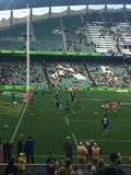 Rugbylek på Allianz stadion Royaltyfria Foton
