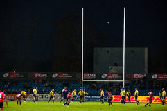 Rugbymatch i Rumänien Royaltyfri Bild