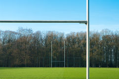 Rugbypfosten Lizenzfreie Stockfotografie