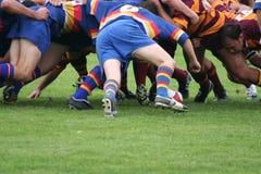 rugbyscrum Royaltyfri Foto