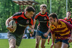 Rugbyspel Stock Afbeelding
