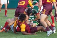 Rugbyspel Royalty-vrije Stock Fotografie
