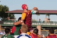 Rugbyspel Royalty-vrije Stock Foto's