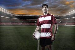 Rugbyspelare Royaltyfria Bilder