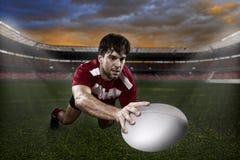 Rugbyspelare Royaltyfri Bild