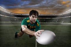 Rugbyspelare Arkivfoton