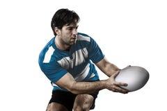 Rugbyspelare royaltyfri foto