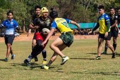 Rugbyspelare i uppgift Royaltyfri Fotografi