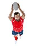 Rugbyspelareman Royaltyfri Bild