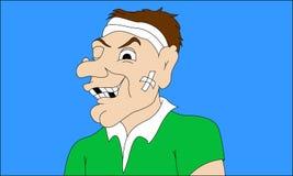 Rugbyspelareselfie royaltyfri illustrationer