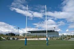 Rugbyspelplan royaltyfri foto
