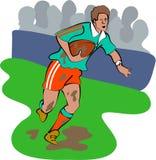 Rugbyspieler stock abbildung