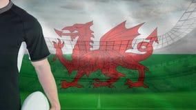 Rugbyspieler von Wales stock abbildung