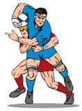 Rugbyspieleranpacken Lizenzfreie Stockbilder