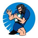Rugbyspielerbetrieb wehren ab Lizenzfreies Stockfoto
