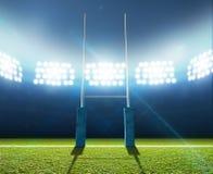 Rugbystadion och stolpar