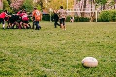 Rugbyszene stockfotos
