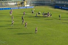 Rugbytraining Lizenzfreie Stockfotos