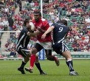 Rugbyunie: Leger versus Marine Stock Foto