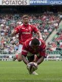 Rugbyunie: Leger versus Marine Stock Foto's