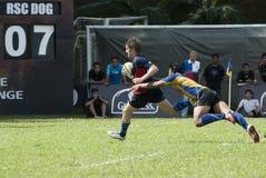 Rugbyuppgift Royaltyfri Foto