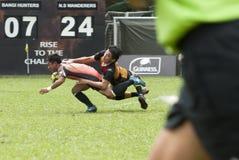 Rugbyuppgift Arkivbild