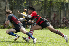 Rugbyuppgift Royaltyfria Bilder