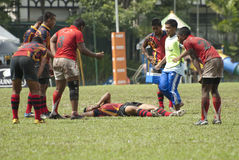 Rugbyuppgift Royaltyfria Foton