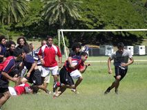 Rugbyversuch stockbild