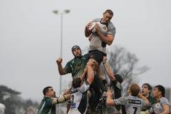 Rugbyzeile heraus Lizenzfreie Stockfotos