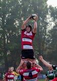 Rugbyzeile heraus Stockfotos