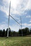 Rugbyzielbeiträge Stockfoto