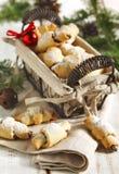 Rugelach avec le remplissage de chocolat Image libre de droits