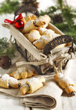 Rugelach with chocolate filling. Royalty Free Stock Image