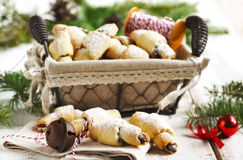 Rugelach with chocolate filling. Stock Photo