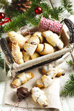 Rugelach with chocolate filling. Royalty Free Stock Photo