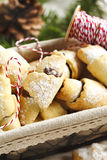 Rugelach with chocolate filling. Stock Photos