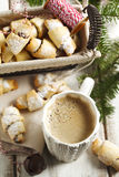 Rugelach with chocolate filling. Stock Images