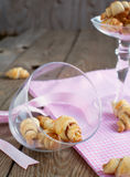 Rugelach with cinnamon and sugar filling in bowl Royalty Free Stock Photo