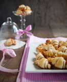 Rugelach with cinnamon and sugar filling in bowl Stock Photo