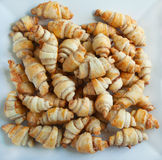 Rugelach with cinnamon and sugar filling Stock Photos