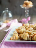 Rugelach with cinnamon and sugar filling Stock Photography