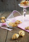 Rugelach with cinnamon and sugar filling Royalty Free Stock Photos