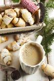 Rugelach con il materiale da otturazione del cioccolato Immagini Stock