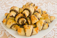 Rugelach fait maison Photos stock