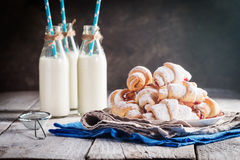 Rugelach with jam Royalty Free Stock Photography